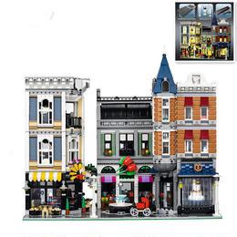 LEPIN レゴ互換品 アセンブリスクエア 10255相当 クリエイター ブロックおもちゃ