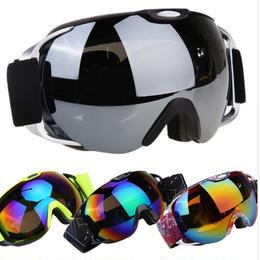 VILISUN スキーゴーグル スノボ REVOミラー ダブル球面レンズ 紫外線カット 軽量 メガネ対応 曇り止め すべり止め 3層スポンジ ブラック