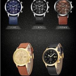 メンズ腕時計 クロノグラフ 海外ブランド Amuda ミリタリークォーツ レザーストラップ ファッション ビジネス フォーマル