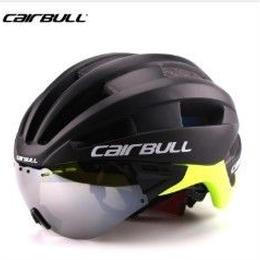 Cairbull 自転車 ヘルメット 男女兼用 シールド取り外し可能 ゴーグル付き MTB ロードバイク ロードレーサー 大人用 軽量 衝撃吸収 通風