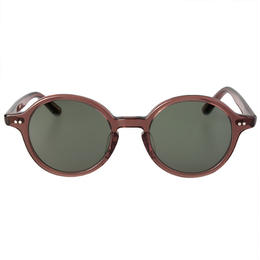 Round - ClearBrown Sunglass