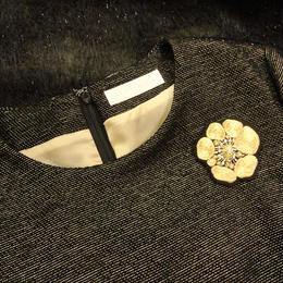 KIFNASKセレクション ― 刺繍ブローチ gold