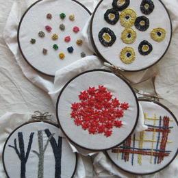 ラフィアの刺繍セット