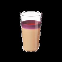 袷(awase)細身タンブラー 白紫