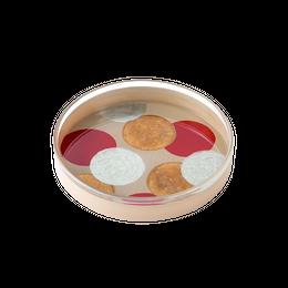 洒落(schale)豆平皿 白・大丸