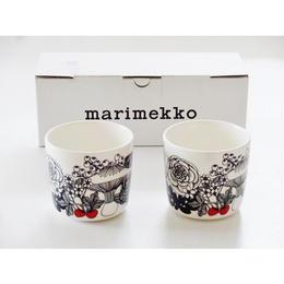 マリメッコmarimekko ヴェルイェクセトゥVELJEKSET ラテマグ 2個セット