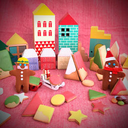 絵本読み聞かせと、ジンジャーマンクッキータウンでお菓子の家作り