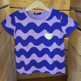 【Caldia】 総柄チビポケTシャツ (PURPLE)