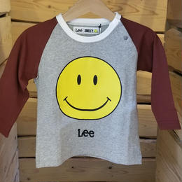 【Lee】スマイル ロンT(GRAY×RED)