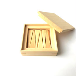 【若い衆シリーズ】 木の箸置きNo.2 ヒバ 限定1箱 土田真之