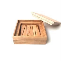 【若い衆シリーズ】 木の箸置きNo.2 オーク 限定1箱 土田真之