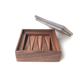 【若い衆シリーズ】 木の箸置きNo.2 ウォルナット 限定1箱 土田真之