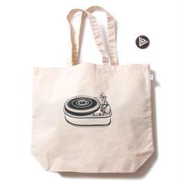 irie life /vinyl junkie logo tote bag