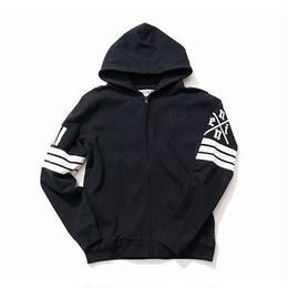 NINE RULAZ /zip up hoodie