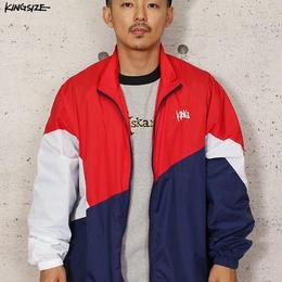 KINGSIZE /draw crazy pattern nylon jacket