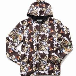 NINE RULAZ /kush nylon hoodie