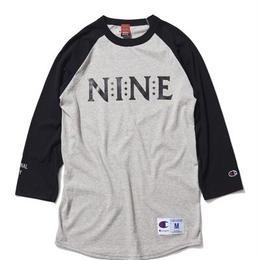 NINE RULAZ /Champion 3/4 sleeve Tee