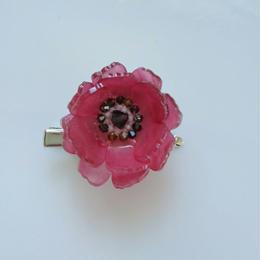 お花のプラバンブローチ(赤いお花Ⅰ)