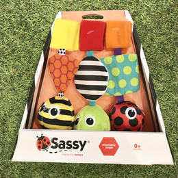Sassy 「hug-a-bugs carrier toy」(3色ボール)