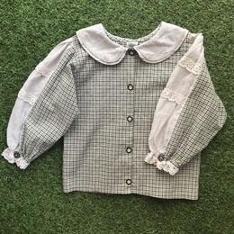 *JurianKinder*khaki check blouse