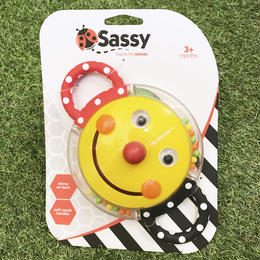 Sassy 「smiley face mirror rattle」(スマイル)