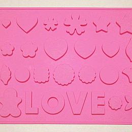 シートモールド ハート/お花/LOVE