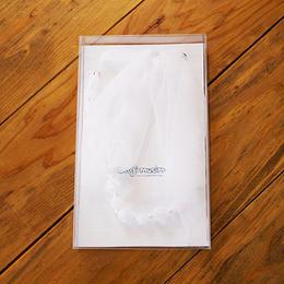 ビーズ&リボン ネックレス(br1/white)