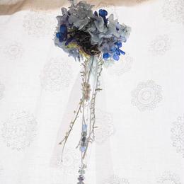 【Petit Petit】サンキャッチャー flower ball -blue-