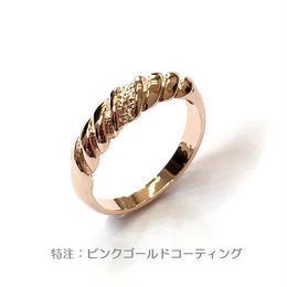 指輪 ピンクG ぽてシンプルデザインリング  sg◆BR-439