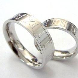 指輪 リング◆ステンレス  ユニセックス◆ローマ数字◆SSR-125