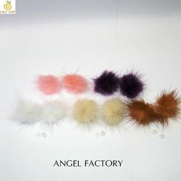 樹脂製 ピアス ミンクファー 冬ピアス ANGEL FACTORY lalalady-197
