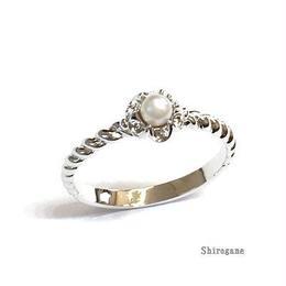 指輪 プラパール ピンキーリング スワロフスキークリスタル使用 sg◆BR-4112