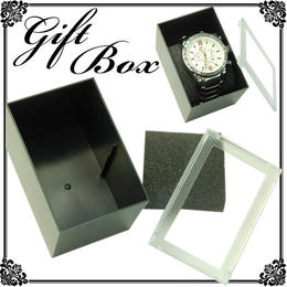 ラッピング◆腕時計・ブレスレット用◆カバー付き!BLACK アクセサリーケース◆KJ-B307