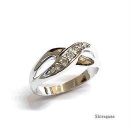 指輪 ピンキーリング スワロフスキークリスタル使用 sg◆BR-614