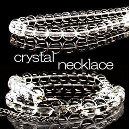 天然石 パワーストーン ネックレス◆開運 厄払い◆10mm クリスタル 水晶◆N1-10