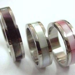 指輪 リング◆ステンレス リング◆蝶貝◆SSR-129