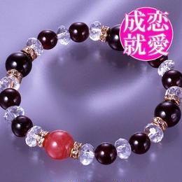 天然石 パワーストーン 全体・恋愛運他◆好運インカローズ・ガーネットブレスレット HR◆4558