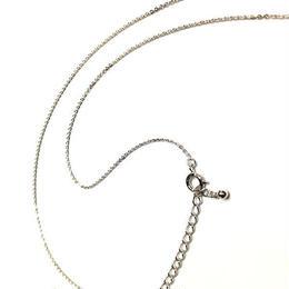 ネックレス◆40cm+5cm SILVER925 あずきチェーン◆シルバーカラー◆P-chain230SF◆sign