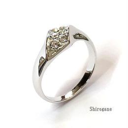 指輪 デザインリング スワロフスキークリスタル使用 sg◆BR-2392