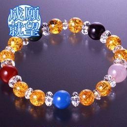 天然石 パワーストーン 金運・恋愛運◆順風・安泰ブレスレット HR◆5142