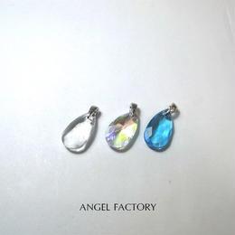 ペンダント A級ガラス カッティングティアドロップ 3カラー ANGEL FACTORY lalalady-205