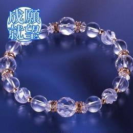 天然石 パワーストーン 全体運・厄払い◆すっきり白水晶ブレスレット  HR◆5290