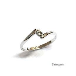 指輪 Z ピンキーリング スワロフスキークリスタル使用 sg◆BR-602