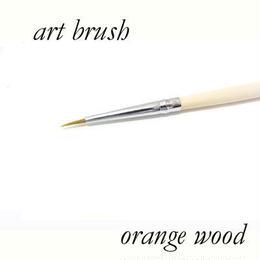 ネイルアート◆ネイルブラシ 美しいオレンジの木の柄 使い易いアートブラシ◆burusyu0008
