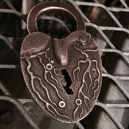 Lynch Silversmith   Heart  Lock