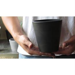 樹脂製ポット シティPOTラウンドSS ブラック
