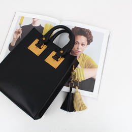 【牛皮】ゴールドバックル2wayハンドバッグ