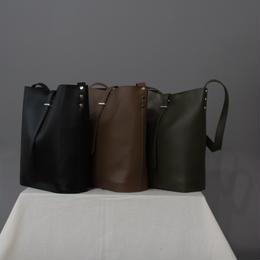 ミニポーチ付き シンプルショルダーバッグ 全3色