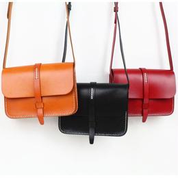 【牛皮】カラーショルダーバッグ 全3色
