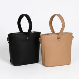 バケツ型2wayハンドバッグ 全2色